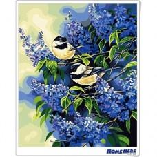 數字油畫 兩隻小鳥