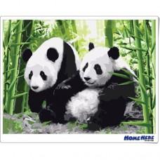 數字油畫 可愛大貓熊