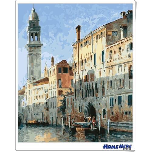 數字油畫 威尼斯風光 預購款2019年5月出貨