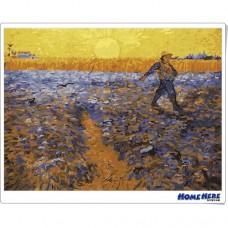 數字油畫 梵谷 夕陽下的播種者