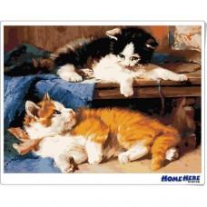 數字油畫 貓的情話世界