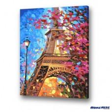 數字油畫 花都巴黎