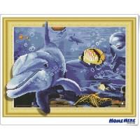 鑽石畫 3D立體藝術 海豚