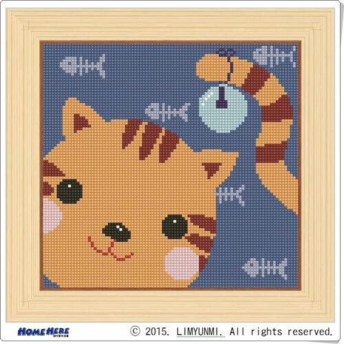鑽石畫 幻覺小貓