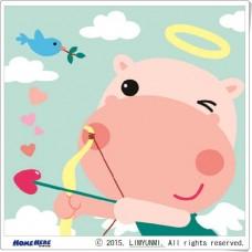 數字油畫 韓國插畫家款 河馬天使