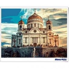 數字油畫 古老的教堂