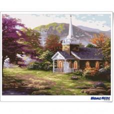 數字油畫 莊園小屋