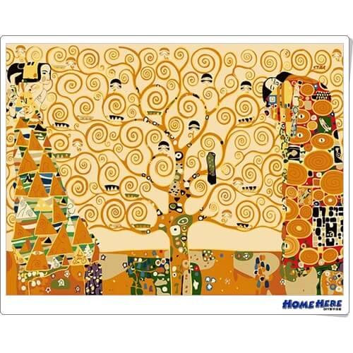 數字油畫 克林姆 生命樹 (金屬色)