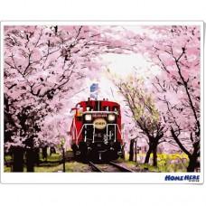 數字油畫 京都 櫻之嵐山 (獨家縮時淡彩畫布)