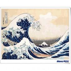 數字油畫 浮世繪 冨嶽三十六景 神奈川沖浪裏 (獨家縮時淡彩畫布)