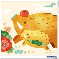 數字油畫 X 插畫家尼果 諸事大吉 富貴雙全 (金屬色)