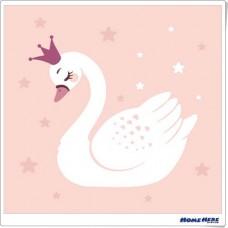 數字油畫 白天鵝