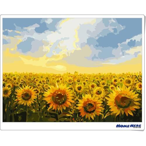 數字油畫  向日葵 希望
