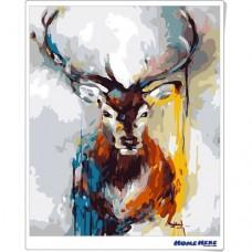 數字油畫 富貴鹿