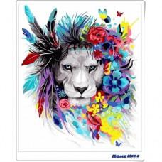 數字油畫 羽毛獅王