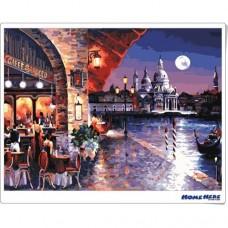 數字油畫 月光威尼斯