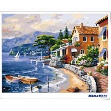 數字油畫 海灘家園
