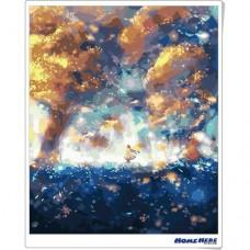 數字油畫 螢光迷幻森林
