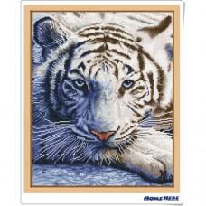 鑽石畫 白色老虎