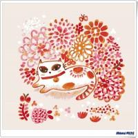 數字油畫 × 插畫家尼果 花與花貓 預購送亮光漆