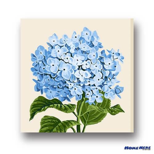 數字油畫  藍繡球