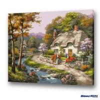 數字油畫 森林小屋