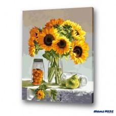 數字油畫 向日葵 寧靜