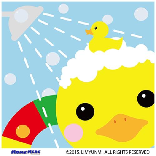 數字油畫 韓國插畫家款 泡泡水小鴨