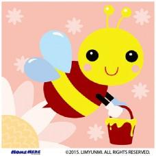 數字油畫 韓國插畫家款 採花小蜜蜂