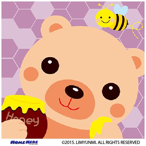數字油畫 韓國插畫家款 花蜜小熊