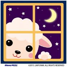 數字油畫 韓國插畫家款 夜晚小羊