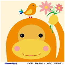 數字油畫 韓國插畫家款 花開小猴