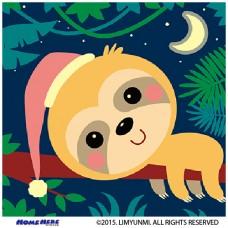 數字油畫 韓國插畫家款 瞌睡蟲樹懶