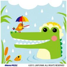 數字油畫 韓國插畫家款 雨王小鱷魚