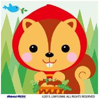數字油畫 韓國插畫家款 小紅帽松鼠