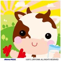 數字油畫 韓國插畫家款 天晴小乳牛