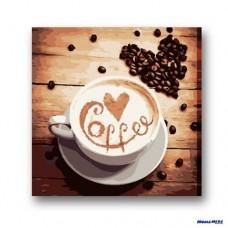數字油畫 咖啡飄香