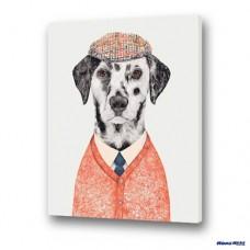 數字油畫 福犬摩斯
