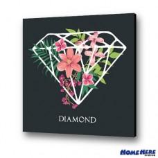 數字油畫  鑽石花