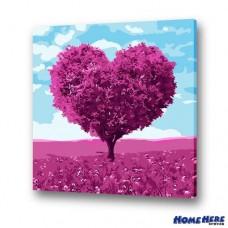 數字油畫 愛情樹