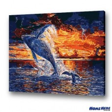 數字油畫  白鯨的冒險