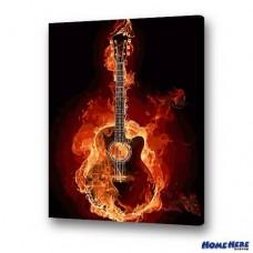 數字油畫 熱力吉他