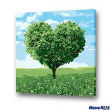 數字油畫 希望樹