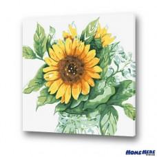 數字油畫 太陽花