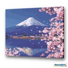 數字油畫 舞櫻 逆富士 限量加大尺寸