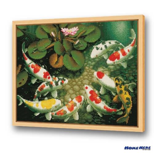鑽石畫 錦鯉報春