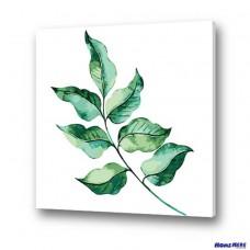 數字油畫 清新綠葉