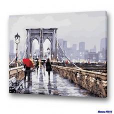 數字油畫 舊城橋墩