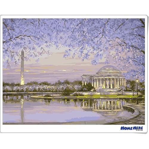 數字油畫 春遊華盛頓
