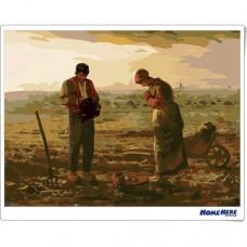數字油畫 米勒 祈禱者